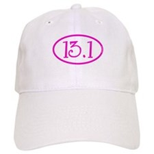 13.1 Half Marathon Pink Girly Baseball Cap