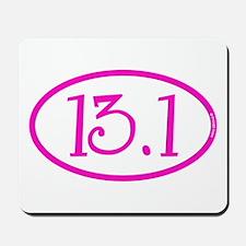 13.1 Half Marathon Pink Girly Mousepad