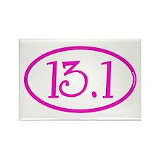 13.1 Half Marathon Pink Girly Rectangle Magnet