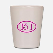 13.1 Half Marathon Pink Girly Shot Glass