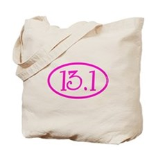 13.1 Half Marathon Pink Girly Tote Bag