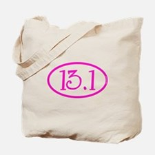 13.1 Half Marathon Pink Girly Tote Bag