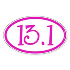 13.1 Half Marathon Pink Girly Decal