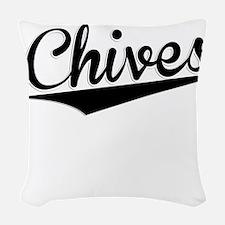 Chives, Retro, Woven Throw Pillow