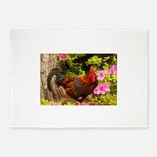 Rooster 5'x7'Area Rug