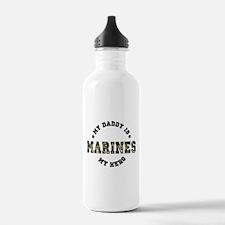 My Daddy is My Hero MARINES Water Bottle