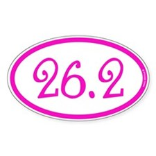 26.2 Marathon Pink Girly Decal