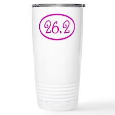26.2 Marathon Pink Girl Travel Mug