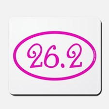 26.2 Marathon Pink Girly Mousepad