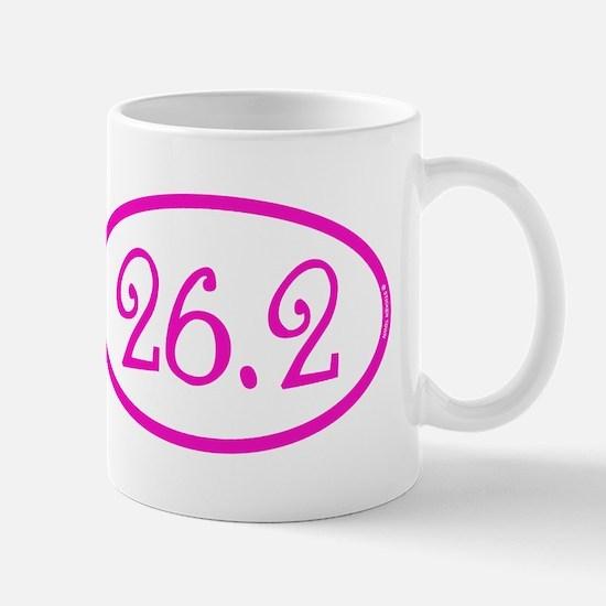 26.2 Marathon Pink Girly Mug