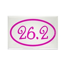 26.2 Marathon Pink Girly Rectangle Magnet