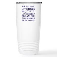 Purple Be Happy Travel Mug