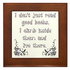 Reading.... Framed Tile