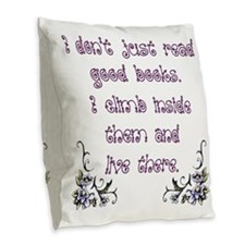 Reading.... Burlap Throw Pillow