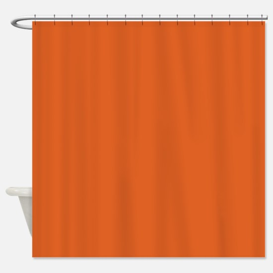 Vivid Red-Tangelo Shower Curtain