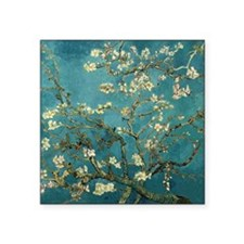 "Van Gogh Almond Branches In Square Sticker 3"" x 3"""