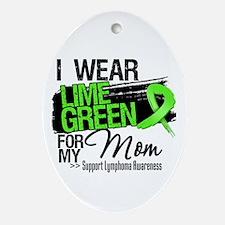 Mom Lymphoma Ribbon Ornament (Oval)