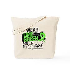 Husband Lymphoma Ribbon Tote Bag