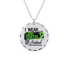 Husband Lymphoma Ribbon Necklace