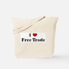I Love Free Trade Tote Bag