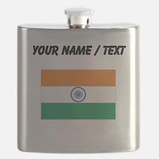 Custom India Flag Flask