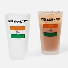 Custom India Flag Drinking Glass