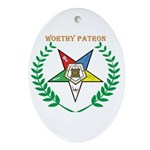 OES Worthy Patron Oval Ornament