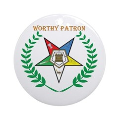 OES Worthy Patron Ornament (Round)