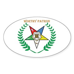 OES Worthy Patron Oval Decal