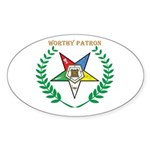 OES Worthy Patron Oval Sticker