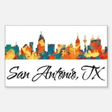 San Antonio Texas Skyline Decal