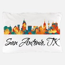 San Antonio Texas Skyline Pillow Case