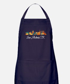 San Antonio Texas Skyline Apron (dark)