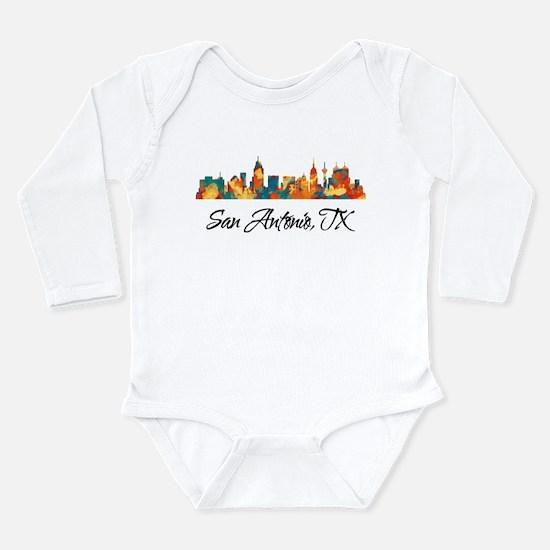 San Antonio Texas Skyl Long Sleeve Infant Bodysuit