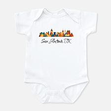 San Antonio Texas Skyline Infant Bodysuit