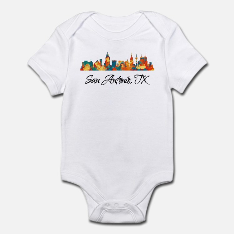 San Antonio Texas Skyline Infant Bodysuit