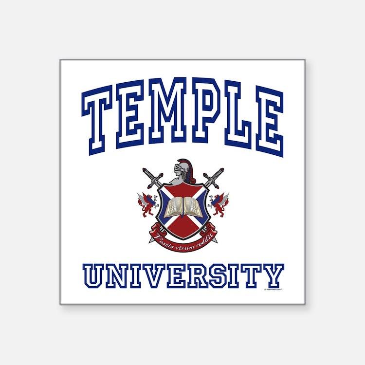 """Cute Temple Square Sticker 3"""" x 3"""""""