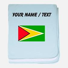 Custom Guyana Flag baby blanket
