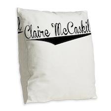 Claire McCaskill, Retro, Burlap Throw Pillow