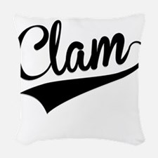 Clam, Retro, Woven Throw Pillow