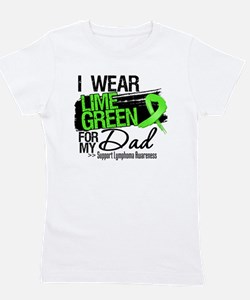 Dad Lymphoma Ribbon Girl's Tee