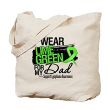 Dad Lymphoma Ribbon Tote Bag
