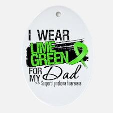 Dad Lymphoma Ribbon Ornament (Oval)