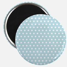 Cute Baby Blue Polka Dots Magnets