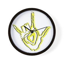 ASL ILY Wall Clock