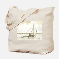 Marshallese Outrigger Tote Bag