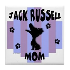 Jack Russell Terrier Mom Tile Coaster