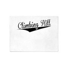 Climbing Hill, Retro, 5'x7'Area Rug