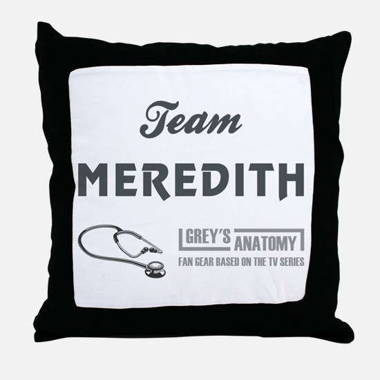 TEAM MEREDITH Throw Pillow