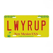 Lwyrup Aluminum License Plate